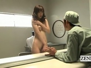Subtitled ENF CMNF shy Japanese stripping housewife