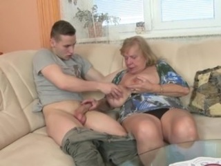 World's best granny suck and fuck young lucky boy