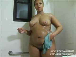 SEXY BBW TAKE SHOWER WHILE PLAYING WITH HER PUSSY AND TWERK