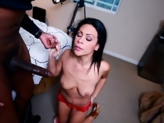 Big Cock Interracial Brunette