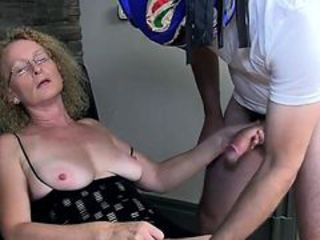 Cougar wife Cathy takes creampie from masked man