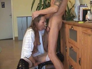 Blowjob European German Mature Small Tits Wife