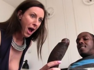 Handjob Big Cock Brunette