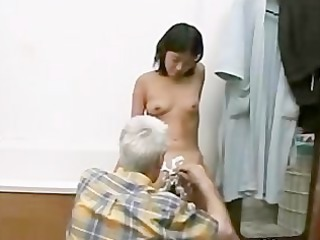grandpa and inexperienced girl