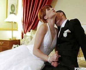 Bride Kissing MILF