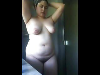 Amateur Brazilian Chubby Girlfriend Latina Showers Teen