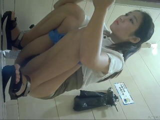 Asian Chinese Pissing Toilet Voyeur
