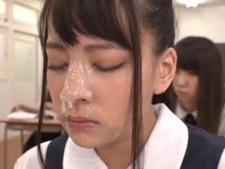 Japanese Bukkake Facial Teen Asian Cumshot School