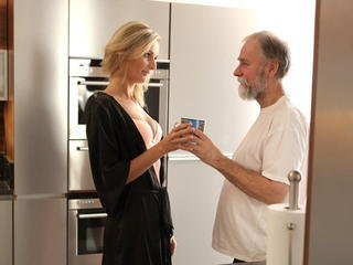 OLD4K. Jenny Smart having sex with an old man with beard Sex Tubes