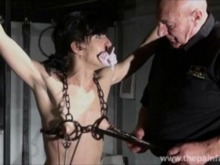 Electro bdsm and feet punishment of slave Elise Graves in dungeon tit tortu Sex Tubes