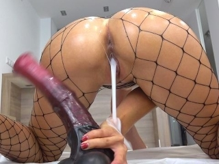 Creampie Ass Fishnet