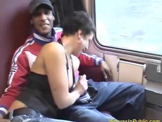 wild groupsex orgy at the public train