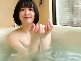 Very Beautiful Japanese Girl Bathing