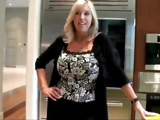 Busty Cougar Mother Seduces And Fucks Her Stepson With Very Big Cock