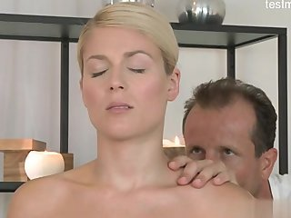 Amazing Blonde Massage
