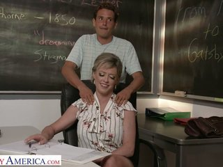 Big tittied teacher Dee Williams bangs one of her favorite students