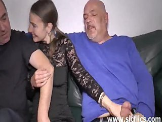 Family Handjob Old And Young