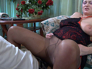 Mature Pantyhose Riding
