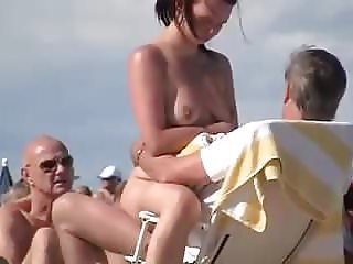 Nude Beach - Trophy Wife Showoff & Dogging -Filmed by Voyeur