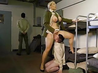 Army Uniform MILF Slave Big Tits Femdom Licking