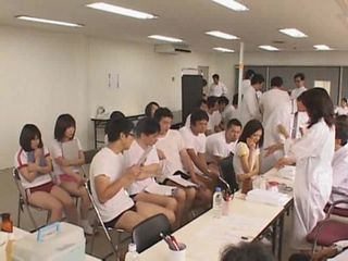 Japanese schoolgirls medical checking, part 2