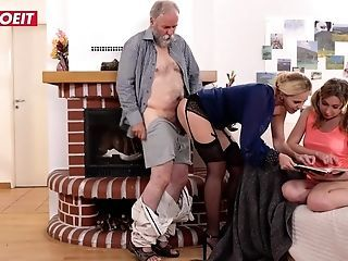 Letsdoeit - Old Perv Step Dad Fucks Mummy And Daughter-in-law