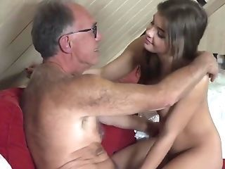 Sweet Nubile Fucked By Old Man She Gulps Jizm Dt