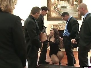 A Few Horny Dudes Fuck Deep Gullet And Assfuck Crevasse Of Super-naughty Seductress Sheena Ryder