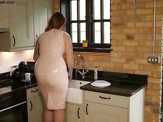 Taboo Step Paige Turnah Mum in Latex Teases Step Son