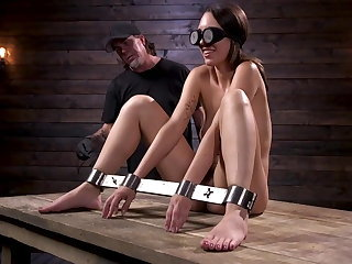 Newcomer is bound and tormented in device bondage