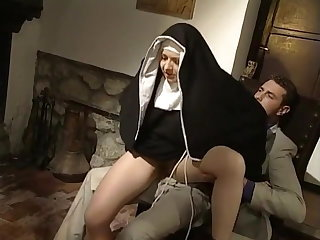 Nun Riding Teen Uniform Vintage