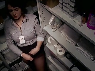 Masturbating Office Secretary